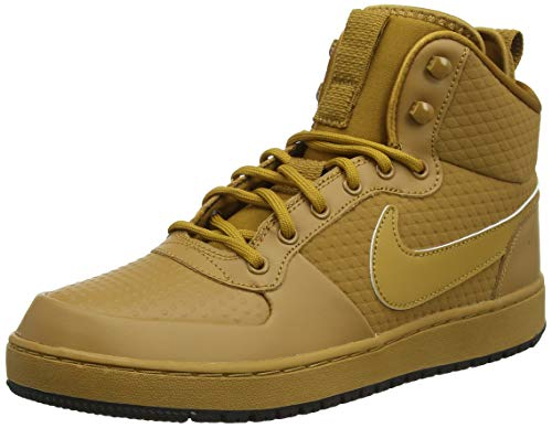 Nike Men's Ebernon Mid Winter Sneakers (9 D US, Wheat/Wheat/Black)