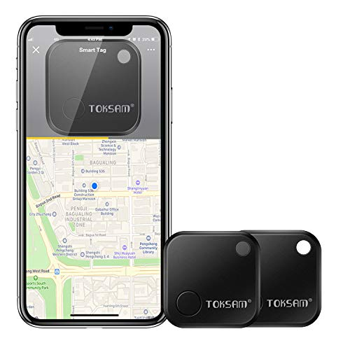 2 Pack Key Finder,Phone Finder,Bluetooth Tracking Locator for Keys,Wallet,Bag,Luggage,with App Control,Smart Anti Lost Alarm,for iPhone iOS/Android Compatible[Replaceable Battery/Long Standby Time