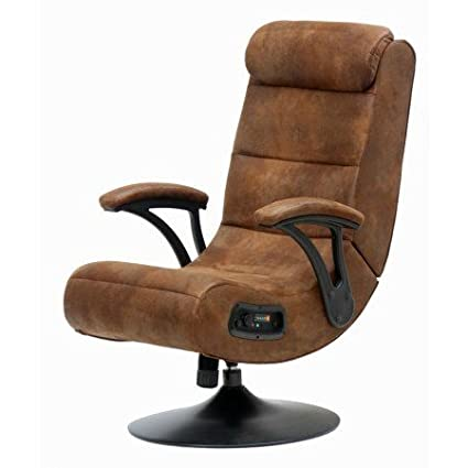 Beau Gaming Chair|2.1 Bluetooth |Distressed Brown Suede