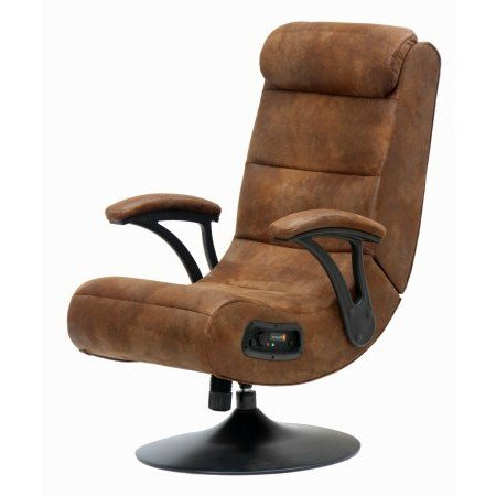 41xqeTGvIiL - Gaming Chair|2.1 Bluetooth |Distressed Brown Suede