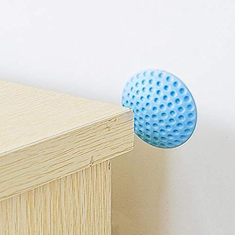 Door Crash Pads Door Knobs Self-Adhesive Crash Pad Round Soft Rubber Wall Protector Cabinets for Protecting Wall Refrigerator Door Door Stoppers