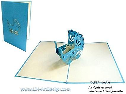 Lin De Pop Up 3d Cartes De Vœux Cartes De Vœux Cigogne