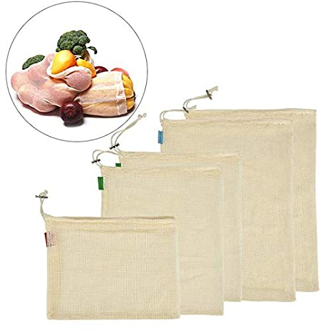Harddo Bolsa reutilizable para productos, algodón orgánico ...