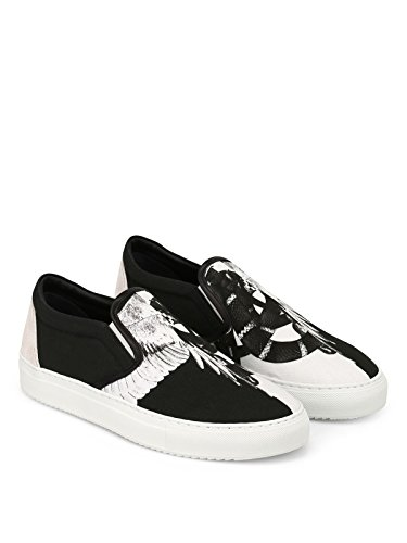 discount fast delivery free shipping fashion Style MARCELO BURLON Men's CMIA055S187330968800 Black Leather Slip On Sneakers xcGmq