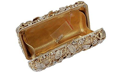 FZHLY Sac De Dames Dîner De Haute Qualité Avec Le Diamant Et Perle Motif Floral
