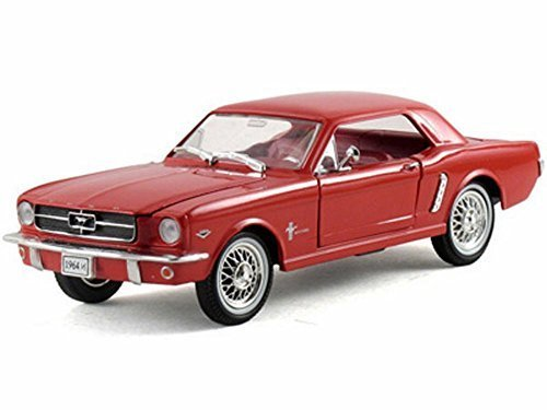 (1964 Ford Mustang Hard Top, Red - Arko 06431 - 1/32 Scale Diecast Model Toy Car by Arko)
