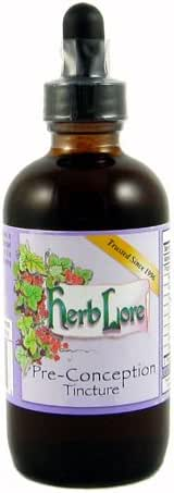 Herb Lore Pre-Conception Fertility Tea Tincture - 4 Ounces - Natural Fertility Supplement - Herbal Fertility Blend for Women to Enhance Female Fertility and Support Hormone Balance