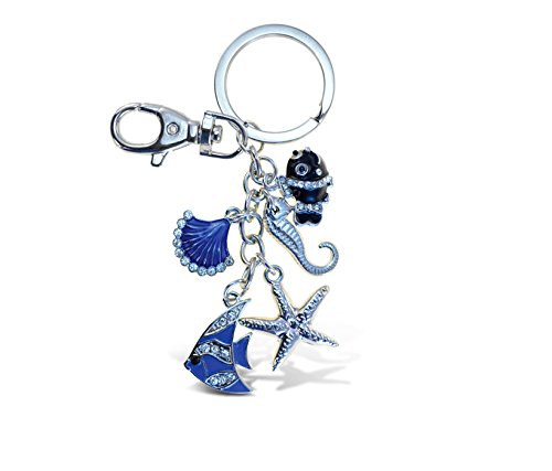 Puzzled Beach Collection Sparkling Charm Keychain ()