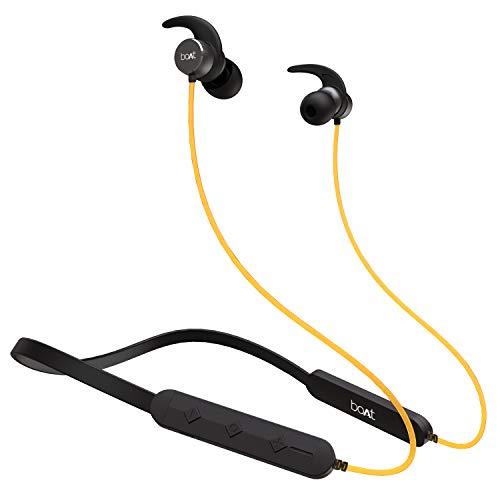 boAt Rockerz 255 Pro Fast Charging Bluetooth Headset (Blazing Yellow)