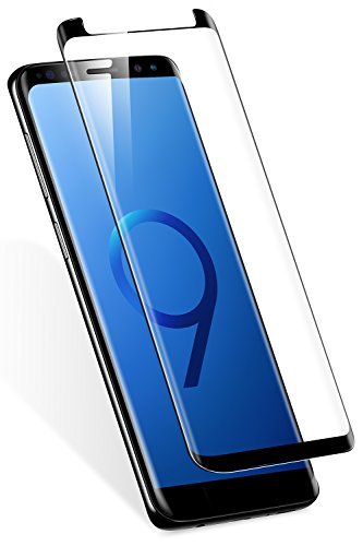Samsung Galaxy S9 Plus Screen Protector, TORRAS 9H Hardness 3D Full Coverage Tempered Glass Screen Protector [Case Friendly] [Bubble Free] for Galaxy S9 Plus,Black