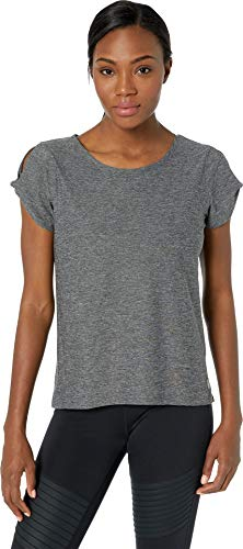 (Eddie Bauer Women's Infinity Twist Sleeve Top Dark Smoke Medium )
