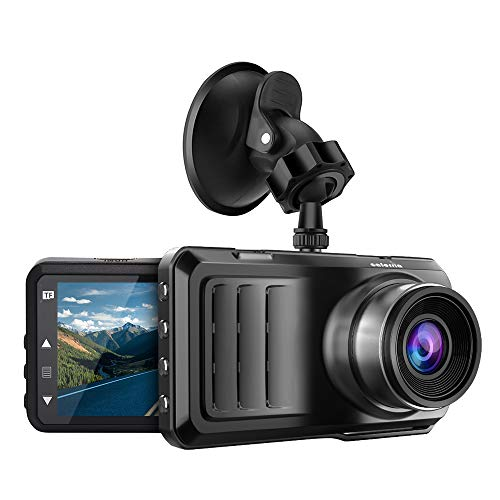 "Caferria Dash Cam 1296P FHD Dashboard Car Camera DVR Driving Recorder 3"" LCD Screen 170°Wide Angle, G-Sensor"