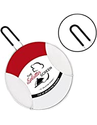 Splatter Screen for Frying Pan - Protects Skin from Burns - Cast Iron Skillet Lid Keeps Kitchen Clean - Stainless Steel - Stops 97 Percent of Hot Oil Splash - Grease Splatter Guard for Cooking
