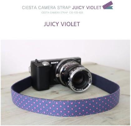 for DSLR SLR RF Mirrorless CIESTA Shoulder Neck Camera Strap Juicy Violte