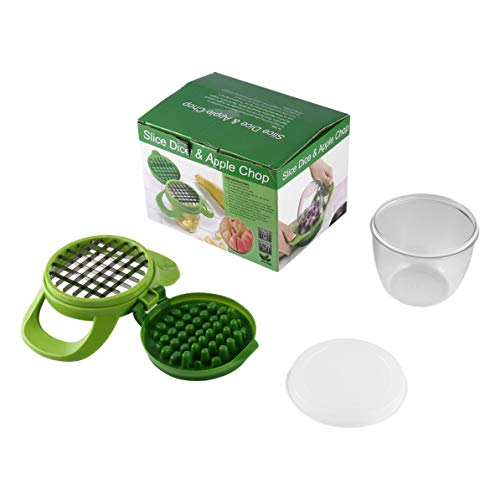Chopper Fruit & Vegetables Slice Dice Chop Machine Potato Dicer DIY Salad Easy Clean Slicer Fruit & Vegetable Tools ()