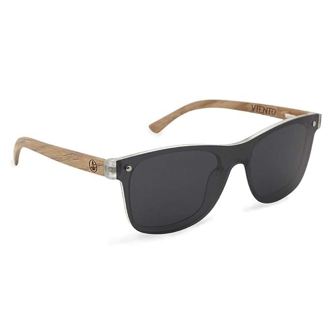 VIENTO Hybrid Lumberjack Gafas de Sol de Madera (Negro ...