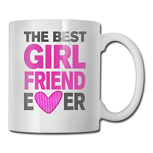 Queline Funny Mug - Best Girlfriend Ever 6 - 11 OZ Coffee Mug Tea Cup - Inspirational Gifts For Friends