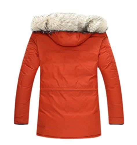 Sublevel Piel De Mantel De Ropa Gruesa Grande Abajo Invierno Chaqueta Collar Wintermantel naranja Chaqueta Lana Damen Caliente Winterparka SRpqSr