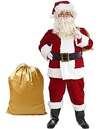 Santa Suit 10pc. Plush Adult Costume