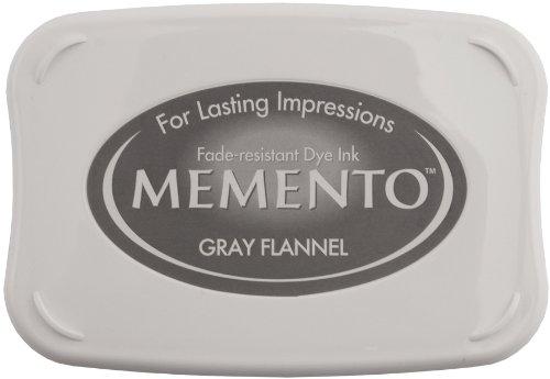 Stazon Gray Ink - Tsukineko Memento Fade Resistant Dye Inkpad, Full, Gray Flannel