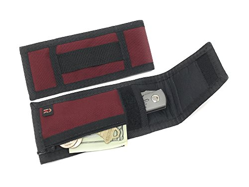 Padded Knife Tool Sheath fits 6 1/2 Inch x 1 5/8 Inch with Zipper Pocket. Burgundy - Made in USA
