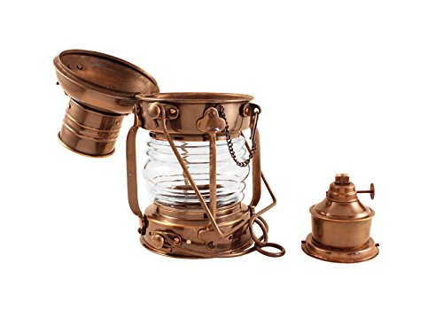 Vermont Lanterns Brass Anchor Lamp - Ship Lantern (10'', Antique Brass)