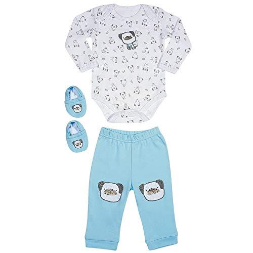 Kit Bebê Unissex Azul RN