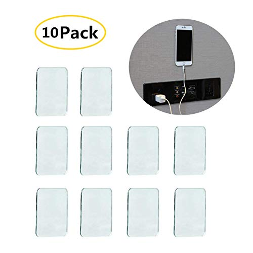 Universal Non-Slip Mats Fixate Sticky Anti-Slip Gel Pads Rectangle Clear, Multi Usage Stick to Glass, Mirrors, Whiteboards, Metal, Kitchen Cabinets, Tile (Set of 10) ()