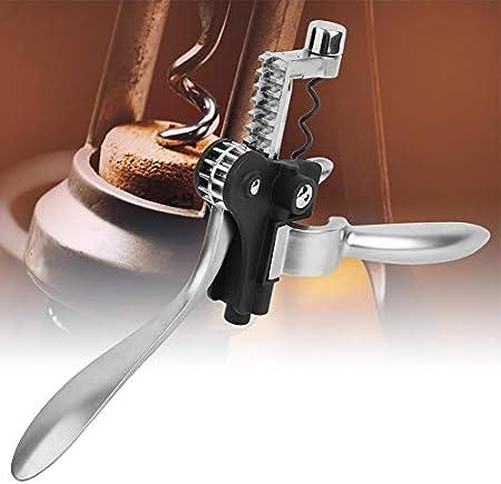 Sacacorchos de vino Aleación de zinc Abridor de vino tinto Sacacorchos giratorio Abridor de botellas manual con lindo mango en forma de orejas de conejo