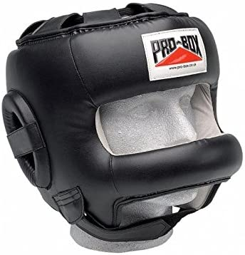 PRO Boxing Traditional Leather Boxing Headgear Face Saver Bar