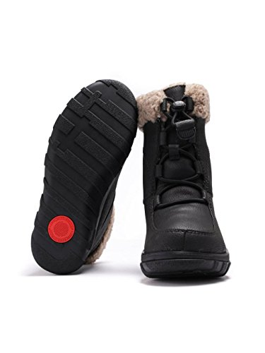 Fitflop Loaff Waterproof Lace Up - Botas de agua Mujer Black (All Black)