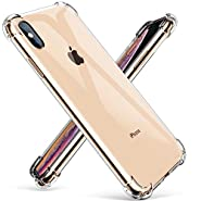 "GVIEWIN Crystal Clear iPhone Xs Max Case, Soft TPU Cover with Shock Absorption Bumper Corners and Transparent Back Slim & Protective Cases for iPhone Xs Max 6.5""(2018)"