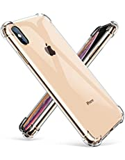 """GVIEWIN Crystal Clear iPhone Xs Max Case, Soft TPU Cover with Shock Absorption Bumper Corners and Transparent Back Slim & Protective Cases for iPhone Xs Max 6.5""""(2018)"""