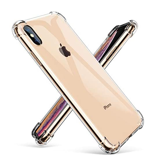 "GVIEWIN Crystal Clear iPhone Xs Max Case, Soft TPU Cover with Shock Absorption Bumper Corners and Transparent Back Slim & Protective Cases for iPhone Xs Max 6.5""(2018) - 41xqjAm6n6L - GVIEWIN Crystal Clear iPhone Xs Max Case, Soft TPU Cover with Shock Absorption Bumper Corners and Transparent Back Slim & Protective Cases for iPhone Xs Max 6.5″(2018)"