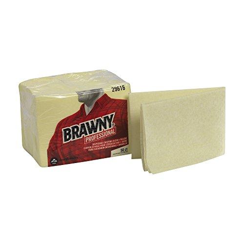 "GP PRO Brawny Professional Disposable Dusting Cloth, 17"" x 24"", Yellow"