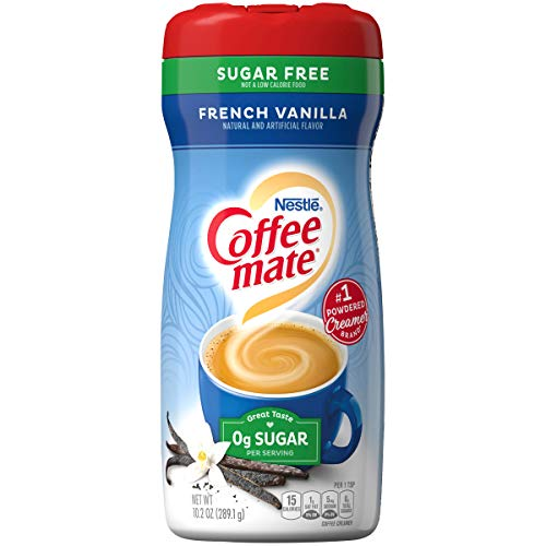 Creamer French Vanilla Flavor - Coffee Mate French Vanilla, Sugar-Free Powdered Coffee Creamer, 10.2-Ounce Unit