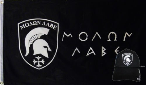 Wholesale Combo 3x5 Greek Come Take Flag & Molon Labe Black