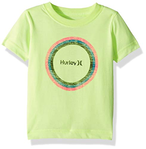 - Hurley Boys' Toddler Graphic T-Shirt, Volt Heather/Circle, 4T
