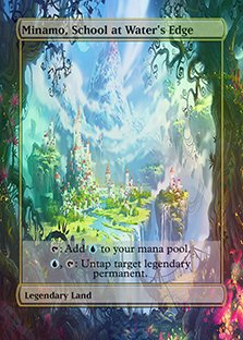 Minamo, School at Water's Edge - Casual Play Only - Customs Altered Art Foil