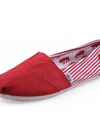 Grigio Di Nero Comoda lavoro Ufficio Blu Donna Red Mocassini Piatto Tempo libero Casual Scarpe Rosso e ShangYi corda awfOgEFqq