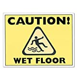 Paper Wet Floor Signs, Disposable - 250/Pack (10 Pack)