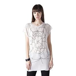 Diesel T-JAC Maglietta Women's T-Shirt Shirt Creme