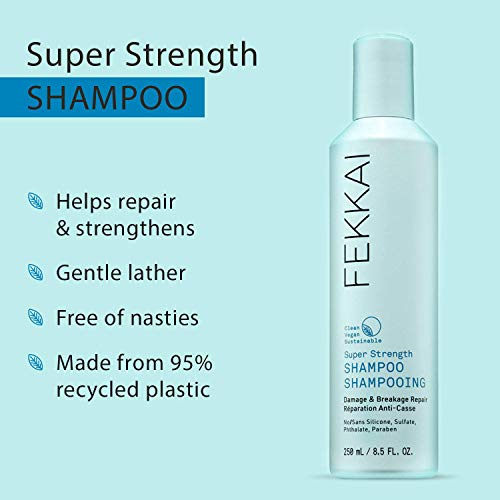 FEKKAI Super Strength Shampoo, Damage & Breakage Repair, Natural and Clean, Vegan, Sulfate Free (8.5 oz) 2