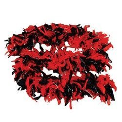 Import Black and Red Feather Boa - Great Dress Up! - coolthings.us