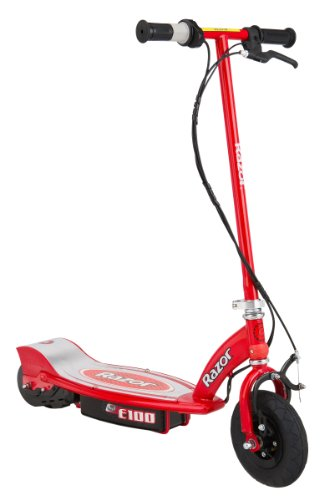 Razor 13111260 E100 Electric Scooter Red Deal (Large Image)