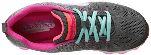 Skechers Kids Skech Air Athletic Sneaker (Little Kid/Big Kid) Charcoal/Multi