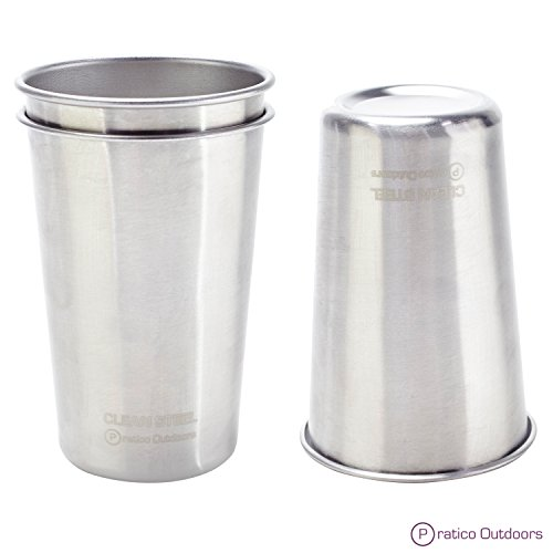 Clean-Steel-Stainless-Steel-Cups-Pack-5-or-2-Multi-purpose-16-oz-Pint-Glasses-Made-from-BPA-Free-Premium-188-Electropolished-SS-Metal