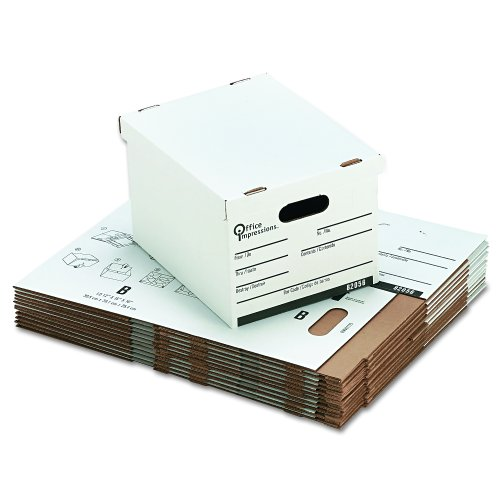 File Economy Storage File (Office Impressions Economy 12 x 10 x 15 Inch White Storage File 12 Pack (82056))