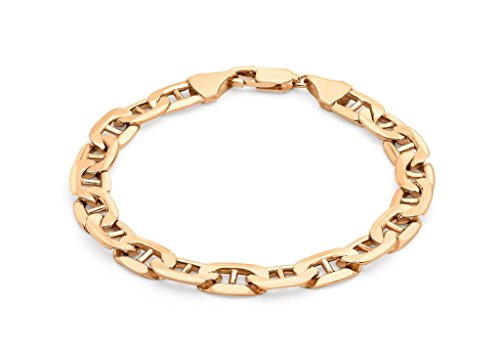 "Or Rose 9carats 200Rambo Bracelet Chaîne 20cm/8"""