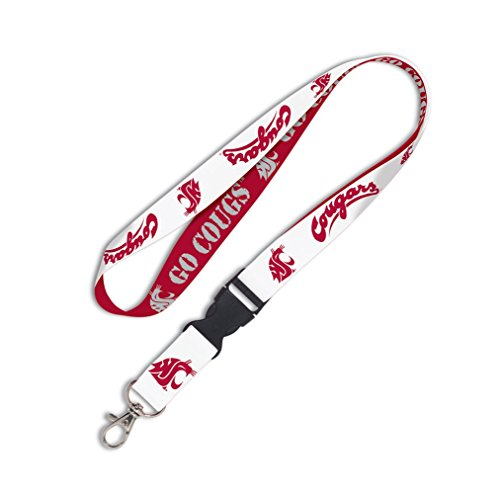 WinCraft NCAA Washington State University 34816010 Lanyard with Detachable Buckle, 3/4